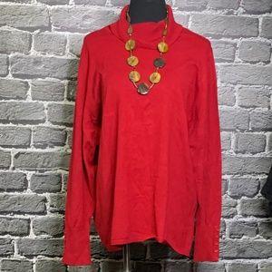 Lane Bryant Red Rayon Turtleneck Sweater 26/28